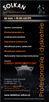 Kampania reklamowa Biura Detektywistycznego SOLKAN